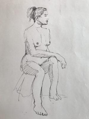 Modèle vivant - dessin - Yvan Dagenais