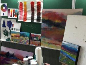 Paysages simplifiés et colorés